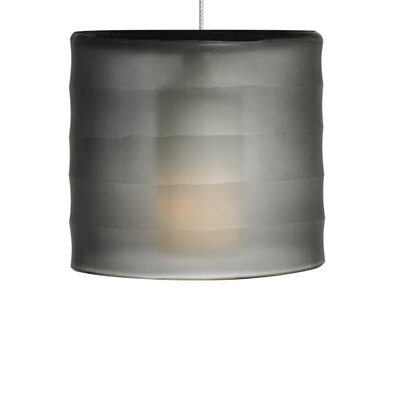 Bali Drum Pendant Shade Color: Smoke, Base Finish: Chrome