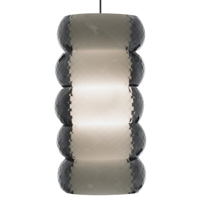 Bangle 1-Light Mini Pendant Base Finish: Chrome, Shade Color: Smoke