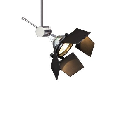 Sprocket 1-Light Track Head Finish: Satin Nickel, Size: 6 H x 3.1 W x 3.1 D