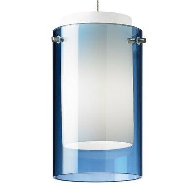 Pinero 1-Light Mini Pendant Shade Color: Steel Blue
