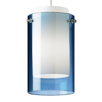 Echo 1-Light Mini Pendant Base Finish: Satin Nickel, Shade Color: Aquamarine, Bulb Type: 90 CRI 3000K LED
