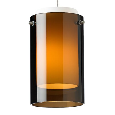 Echo 1-Light Mini Pendant Base Finish: Chrome, Shade Color: Havana Brown, Bulb Type: 80 CRI 3000K LED
