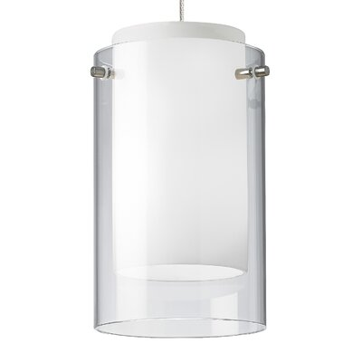 Echo 1-Light Mini Pendant Base Finish: Chrome, Shade Color: Clear, Bulb Type: 80 CRI 3000K LED