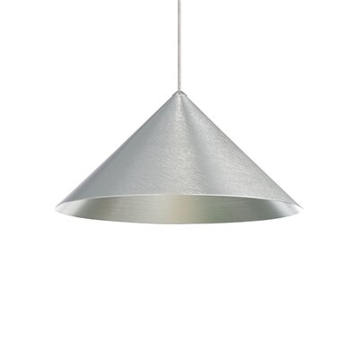 Sky 1-Light Mini Pendant Finish: Antique Bronze, Shade Color: Satin Nickel, Size: 6 H x 12 W x 12 D