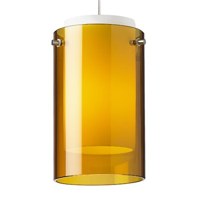 Echo 1-Light Mini Pendant Base Finish: Chrome, Shade Color: Amber, Bulb Type: 80 CRI 3000K LED