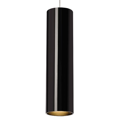 Piper Drum Pendant Base Finish: Black/Satin Nickel