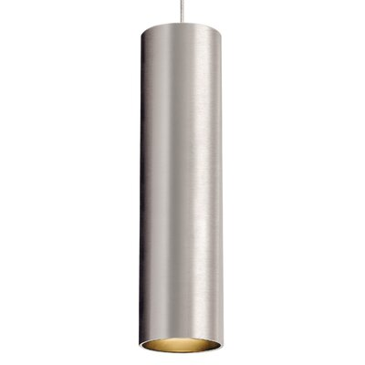 Piper 1-Light Mini Pendant Base Finish: Satin Nickel, Bulb Type: 80 CRI 3000K LED