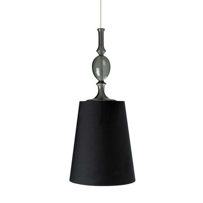 Kiev 1-Light 2-Circuit Mini Track Pendant Shade Color: Black, Bulb Type: Incandescent, Finish: White