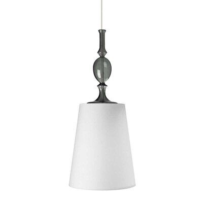 Kiev 1-Light 2-Circuit Mini Track Pendant Finish: Satin Nickel, Bulb Type: Incandescent, Shade Color: White