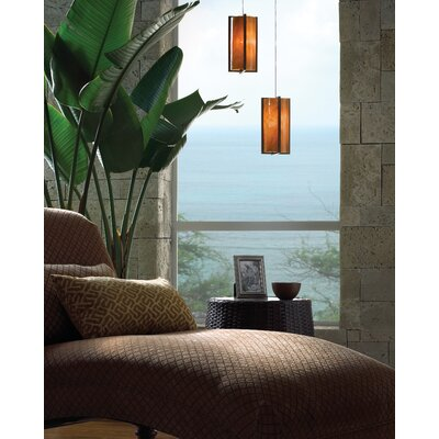 Essex Mini Pendant Base Finish: Satin Nickel, Shade Color: Beach Amber
