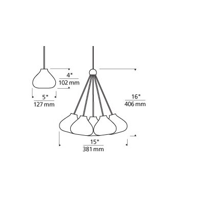 Phares 1-Light Mini Pendant Finish: Satin Nickel