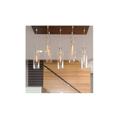 Beacon 1-Light 2-Circuit Mini Track Pendant Bulb Type: Compact Fluorescent, Finish: Satin Nickel, Shade Color: Amber