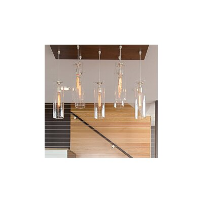 Beacon 1-Light 1-Circuit Mini Track Pendant Finish: Satin Nickel, Shade Color: Havana Brown, Bulb Type: Incandescent