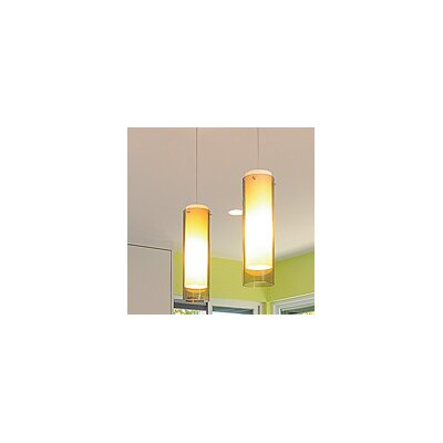 Echo Grande 1-Light 1-Circuit Mini Track Pendant Shade Color: Amber, Bulb Type: Incandescent, Finish: White