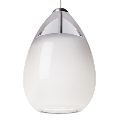 Alina 1-Light Mini Pendant Base Finish: Chrome, Shade Color: White, Bulb Type: 80 CRI 3000K LED