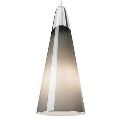 Selina 1-Light Mini Pendant Finish: Satin Nickel, Shade Color: Gray