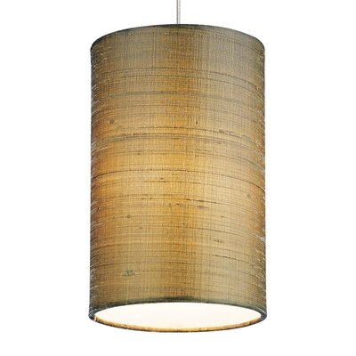 Fab Drum Pendant Shade Color: Almond, Base Finish: Satin Nickel