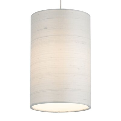 Fab Drum Pendant Base Finish: Chrome, Shade Color: White