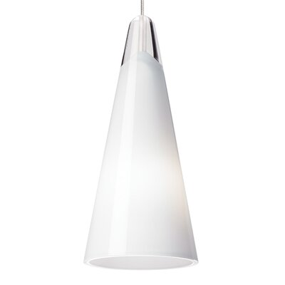 Selina 1-Light Mini Pendant Finish: Satin Nickel, Shade Color: White