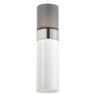 Manette 1-Light Mini Pendant Base Finish: Black/Satin Nickel, Shade Color: Smoke