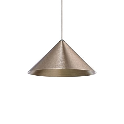 Sky 1-Light Mini Pendant Finish: Antique Bronze, Shade Color: Copper, Size: 6 H x 12 W x 12 D