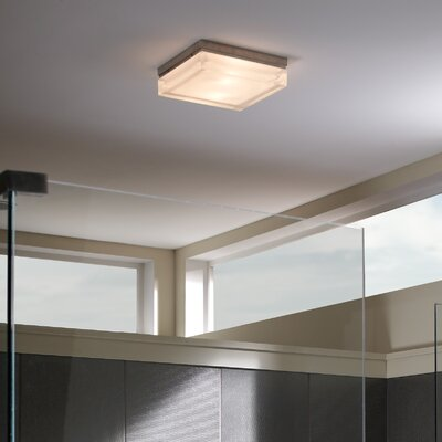 Yeates 1-Light LED Flush Mount Finish: Satin Nickel, Size: 2.5 H x 9 W, Bulb Type: Fluorescent (Programmed Start)