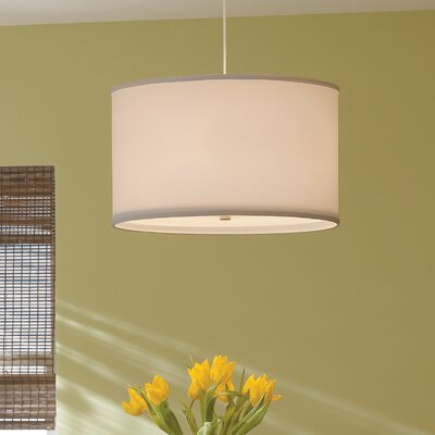 Lexington 4-Light Drum Pendant Finish: White, Shade Color: Desert Clay