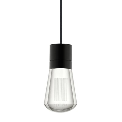 Gordillo Single 1-Light Mini Pendant Finish: Satin Nickel, Shade Color: Fuscia