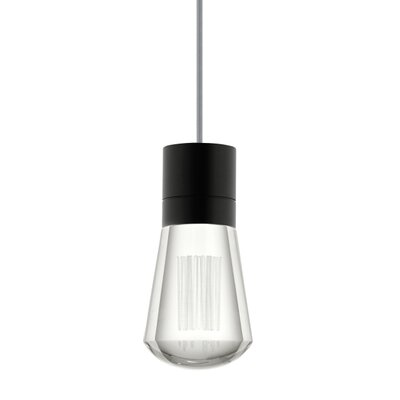 Alva 1-Light Mini Pendant Finish: Black / Gray, Size: 288