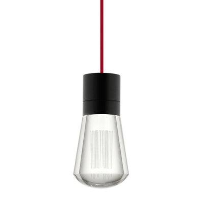 Alva 1-Light Mini Pendant Size: 288, Finish: Black / Red