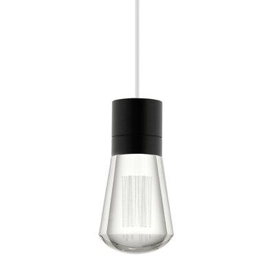 Alva 1-Light Mini Pendant Finish: Black / White, Size: 288