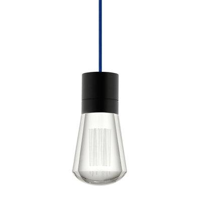 Alva 1-Light Mini Pendant Size: 192, Finish: Black / Blue