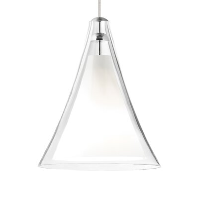 Mini Melrose II 1-Light Mini Pendant Shade Color: Clear, Finish: Antique Bronze