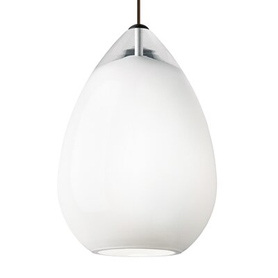Pinkard 1-Light Mini Pendant Finish: White, Shade Color: Smoke