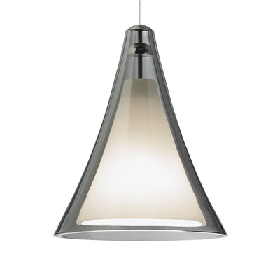 Mini Melrose II 1-Light Mini Pendant Finish: Satin Nickel, Shade Color: Smoke