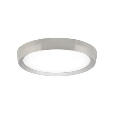 Bespin Flush Mount Finish: Satin Nickel, Voltage: 120