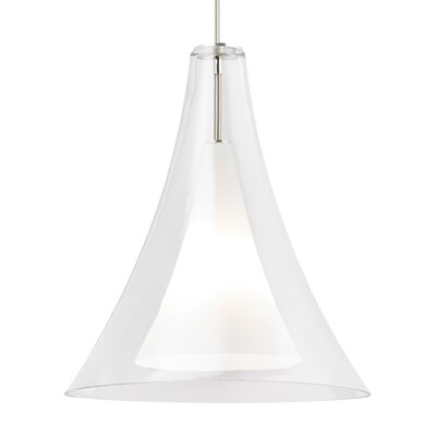 Melrose 1-Light Mini Pendant Finish: Satin Nickel, Shade Color: Clear