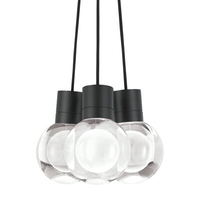 Pipkins 3-Light Cluster Pendant Finish: Black