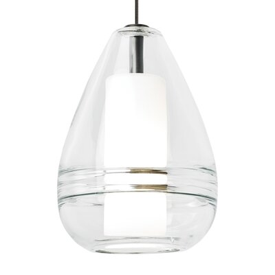 Mini Ella 1-Light Mini Pendant Finish: Satin Nickel, Shade Color: Clear, Bulb Type: 1 x 35W halogen