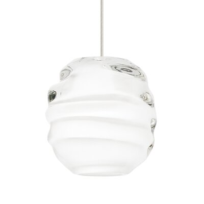 Audra 1-Light Globe Pendant Finish: Black, Shade Color: White, Size: 5.9 L x 5.3 W