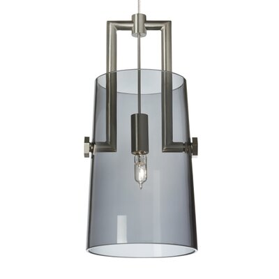 Revere Monopoint 1-Light Mini Pendant Finish: Black/Satin Nickel, Shade Color: Transparent Smoke, Bulb Type: Incandescent