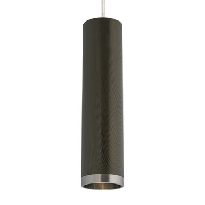 Dobson 1-Light Mini Pendant Shade Color: White Ash