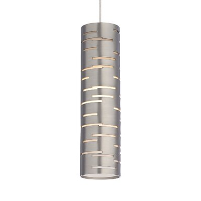 Revel 1-Light Mini Pendant Base Finish: Satin Nickel, Shade Color: Satin Nickel