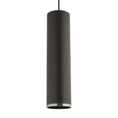 Dobson 1-Light Mini Pendant Finish: White, Shade Color: Weathered Gray Oak