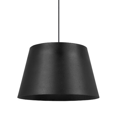 Henley 1-Light Bowl Pendant Shade Color: Textured Black/Black