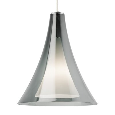 Melrose 1-Light Mini Pendant Finish: Satin Nickel, Shade Color: Smoke