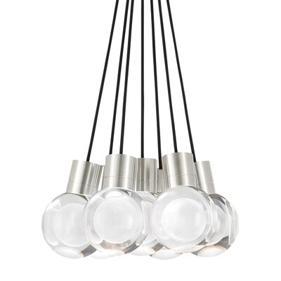 Mina 7-Light Cluster Pendant Finish: Black