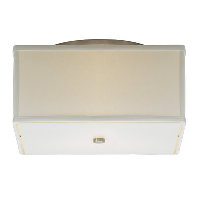 Chambers Track Flush Mount Shade Color: White, Size: Small