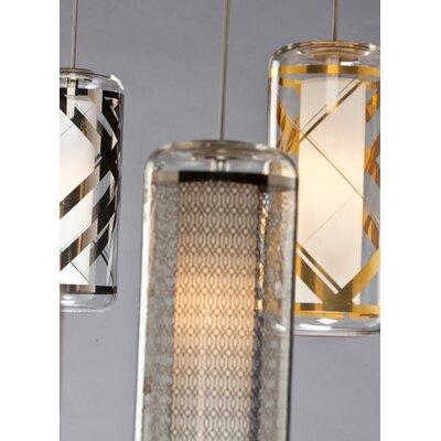 Spencerian 1-Light Mini Pendant Finish: Clear-Polished Platinum