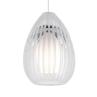 Ava 1-Light Mini Pendant Base Finish: Chrome, Shade Color: Clear